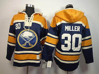 Wholesale Hockey Sawyer - 30 Teams-Wholesale Cheap 2015 New Old Time Hockey Buffalo Sabres 30 Ryan Miller Sawyer Hooded Sweatshirt,Lace Jerseys Fleece Hoodie