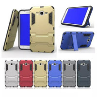 Wholesale Ot Cover - FOR SAMSUNG GALAXY J7 A7 A8 J710 A710 C7 A8 2016 J7 Prime Hybrid KickStand Anti Shock Defender Armor Case TPU+PC cover 100PCS OT