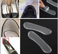 anti-rutsch-paste großhandel-selbstklebende Schuheinlagen Fersenpolster Silikon Gel Anti-Rutsch-Pad Einlegesohle Fußpflege Fersenkissen Protector Relief Gel Heel Liner Grips