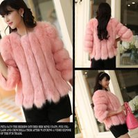 Wholesale Cheaper Women Coats - Women Fur Coat Outwear Faux FurFox 2016 New Autumn Winter Thick Warm Fashion Cheaper Hot Sell Outwear CC-539