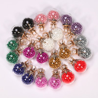 Wholesale earing beads - Candy Color Temperament Stud Earrings Statement transparent bead Earrings for Women Fashion female gifts Bulb Ear Sud Earing Jewelry