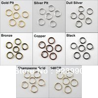 Wholesale Copper 8mm Jump - Free Shipping 200Pcs Jump Rings Open Connectors 8mm Gold Silver Bronze Copper Black etc.For Jewelry Making Craft DIY