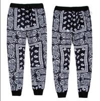 Wholesale hiphop jogging pants - Wholesale-New fashion 2015 women men jogger pants graphic Bandana KTZ hip hop skinny jogging pants sweatpants hiphop trousers