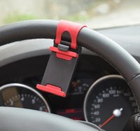 Wholesale Iphone 4s For Bike - Steering Wheel Mobile Phone Cradle Holder Clip Car Bike Mount for Mobile Phone iPhone 6 plus 5S 4 4S