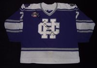Wholesale Cross Stitch Crosses - Factory Outlet, #7 Holy Cross Crusaders college Hockey Jersey purple for sale,buy stitched custom any name,any number and sizes hockey jerse