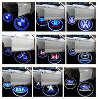 Wholesale Brand Car Mark - Vehicle Car LED wireless projection LOGO Mark Door Welcome Light Door Step Ground Projecting Lamp for all brands Free Shipping