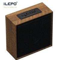 reproducir música de radio al por mayor-Altavoz de madera Sonido natural Altavoces portátiles Reproducción de música MP3 Altavoz Bluetooth Radio FM Entrada de audio AUX Tarjeta TF