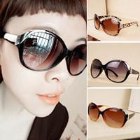 Wholesale Drop Shipping Sunglasses - Women Fashion Sunglasses New Metal Rivet Spectacles Oversized Round Sun Glasses Eyeglasses 3 colors Drop Shipping Freeshipping