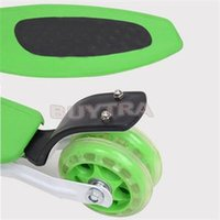Wholesale New Foot Scooter - 2014 new fashion high adjustable foldable kid child mini 3 wheels foot kick scooter