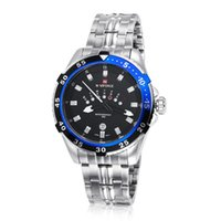 Wholesale Tungsten Watch Steel Black - Hot NAVIFORCE wrist watch High quality men watches Fashion Noctilucent round Black tungsten steel watches Waterproof Sports Quartz watches