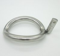 Wholesale Super Size Adult Toys - Super Small Stainless Steel Male Chastity Device Cock Cages Additional Ring Cock Ring 8 Size Choose Adult Sex BDSM Toys