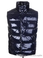 Wholesale men s clothing goose - Fashion Winter Down Vest Brand Men's Warm Vests Clothing For Men Padded Sleeveless M Jacket Waistcoat High Quality Sale