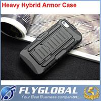 carcasas de armadura pesada lg g3 al por mayor-Heavy Híbrido Armor Case Cover Cinturón de cinturón con soporte Holster 2 en 1 para Galaxy S4 S5 S6 LG G3 G3mini iphone 6 plus