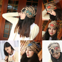 5Colors / 1Lot mixed Farben Männer Frauen Beanie Cap Hiphop Hut Winter Herbst Warm Casual Hats Flag Schal Halstuch