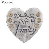 Wholesale Wholesale Hand Jewelry - Vocheng Noosa A Family Hand in Hand Snap Buttons on Jewelry Interchangeable Jewelry Accessory With Crystal (Vn-256)