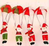 fallschirmpuppen großhandel-Schneemann Dekoration Ornament Home Decor Parachute Weihnachtsmann Puppe Anhänger Weihnachten Spielzeug Spaß Weihnachten Ornament Dekoration
