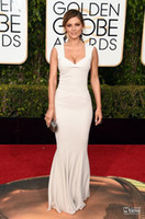 Wholesale Maria Menounos Pink Dress - The 73rd Golden Globe Awards Maria Menounos Celebrity Dresses 2016 Red Carpet Mermaid White Evening Gowns Sexy Zipper Long Custom Made