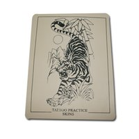 Wholesale Professional Tattoo Practice Skin - 5 Pcs Make up Practice Skin Professional Cosmetic Permanent Makeup tiger Tattoo Practice Skin for Tattoo free shipping