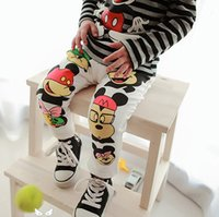 Wholesale Casual Trousers Pants - 2017 Children's spring cartoon trousers Korean children mouse pattern pants cotton casual trousers A