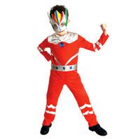 ingrosso ragazzo giapponese anime cosplay-Anime giapponese Tiga Ultraman Costume Cosplay per ragazzo bambini Armored Warriors Costume Party Cosplay Asia / Taglia M-XL