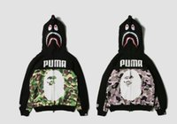 Wholesale Leopard Men Hoodie - The Japanese brand leopard sweater and camouflage ape joint camouflage hoodies sweater coat color of the latest design 2017kanyes West