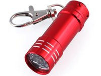 Wholesale Cheap Bright Flashlights - Hot sale MINI 3 LED Super Bright Light Torch Keychain Aluminum Torch 48hrs Dispatch Cheap Price 10pcs