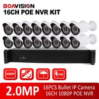 Wholesale 16 Channel Nvr System - 1080P 2MP Bullet IP Camera Video Security Surveillance System 16Ch PoE NVR Recorder System Kit 16 Channel PoE NVR,Support Max To 16TB