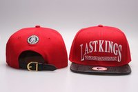 Wholesale Snap Backs King - 2016 hot sale Last Kings Strapback caps red LK Snapbacks hats fashion men's LastKings leather brim strap snap back YP