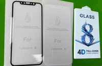 Nuovo per iPhone X Cell Phone Glass per iPhone 8 7 6 Samsung Note 8 S8 S7 Pellicola di protezione anti-graffio 4D 9H HD Pellicola protettiva per display curvo