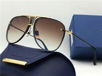 Wholesale Metal Brand Plate - New men brand sunglasses 20 anniversary men sunglasses side two pilots metal frames 18K gold-plated UV400 coated reflective lens top