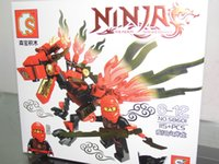 Wholesale Ninjago Action Figures - Children toys building block Action Figures Ninjago Fangpyre Mech CHOI AND DRAGON 115pcs 01#