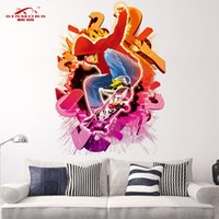 10 lot The New 3d Stickers Fashion Chambre Salon Tv Fond Décoration murale Muraille Verte Skateboard Boy