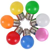 Wholesale New Light Life - New Colored Led Globe Bulb E27 3w 220V Energy Saving Long Life Lamp Light festival decorative Light