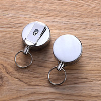 Metal Delicate And Durable Retractable Pull Chain Reel ID Card Badge Holder Hook Reel Recoil Belt Clip ZA5258