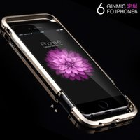 Wholesale Iphone Blade Metal Bumper - 6G Blade Luxury Aluminum Metal Frame Ultra Thin Slim Hard Bumper Case Cover Screw Shockproof Sword Cleave for iPhone 5 6 Plus Samsung Note 4