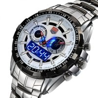 Wholesale Trendy Led Watches - 2015 New Trendy Men's Sport Watch TVG Fashion LED Analog Dive Watch for Men Dual Movements Waterproof