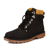 Wholesale Male Latex Rubber - Suede leather man boot Winter ankle boots shoes warm snow velvet fur work flats martin cowboy motorcycle male shoe lace-up