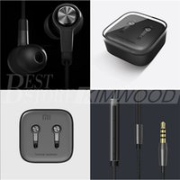 Wholesale Earphones Mic Retail - Newest Original Xiaomi Piston 5 Earphone 3.5mm Xiaomi Standard Edition Bass Earphones Headset With Remote Mic Retail Package Free DHL