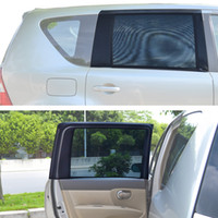 Wholesale Vehicle Window Shades - TFY Universal Car Rear Side-Door Square-Window Sunshades - For vehicles with side windows 31.5'' - 47'' W x 23'' H (Large Window)