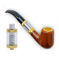 Wholesale Ecig Health - pipe 618 Health Smoking ecig Pipe Electronic Cigarette EPipe with DTC glass atomizer Ecig Imitate Solid Wood Design kit DHL free to USA