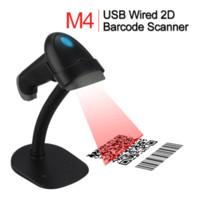 Wholesale usb qr code scanner - Wholesale- M4 Handheld Wired USB 2D Barcode Scanner PDF417 DM QR Code Reader Scaning Phone Windows Screen Bar Code 2D Scanner W Holder