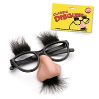 Wholesale Huge Glass Toys - Fuzzy Puss Fake Nose Eyebrows Glasses Novelty Toy by Loftus Fuzzy Puss Huge Nose Joking Around-Gag Glasses Eyebrows on Glasses 10pcs lot