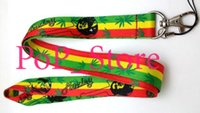 Wholesale Key Charm Lanyards - Wholesale - Cartoon Bob Marley Rasta Cell Phone Straps & Charms   neck Lanyard Key Chain 18""