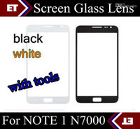 Wholesale Cheapest Note Screen - Front Outer Screen Lens Glass for Samsung Galaxy Note 1 N7000 i9220 White black + tools Cheapest