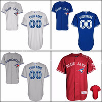 Wholesale Cheap Jay S - 30 Teams- 2015 New Cheap Customized Men's Toronto Blue Jays Jerseys Personalized Cheap Baseball Jersey Shirt Embroidery Logo S-5XL