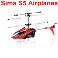 Wholesale Sima Remote Helicopters - Wholesale-Wholesale Cheap Sima S5 new three-channel remote control helicopter toy plane model aircraft free shipping delivery