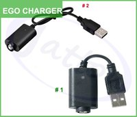 Wholesale Ego Twist Led - Wholesales EGO USB charger long short cable charger with IC 1053 protection red green led for EGO ego-T ego-Q EVOD Twist DHL free shipping