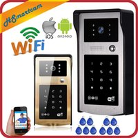 Wholesale 3g Video Camera Ir - New Wireless IP Doorbell With 720P 3G   4G Camera Video Phone WIFI Door bell RFID Code Keypad HD IR Cameras for IOS Android 8PCS