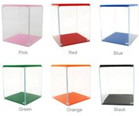 Wholesale Brick Display Cases - PrettyBaby building blocks display case loz display cases 9900 Bricks Figures Show Box Clear Plastic diy display box different color