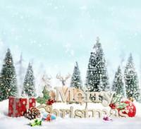 Wholesale Christmas Scenic Backdrops - Christmas Snow Hills Vinyl Spray Backdrop Photography Studio Background Camera Photos Backdrops Computer Printed Digital Backgrounds Cloth
